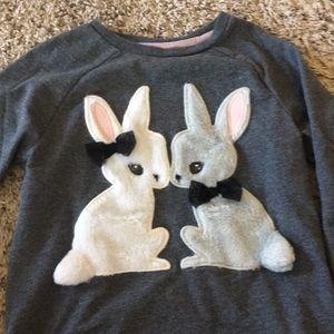 Cute fuzzy bunny sweater